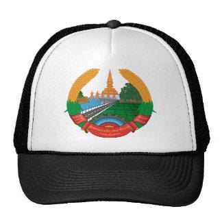 laos emblem trucker hat