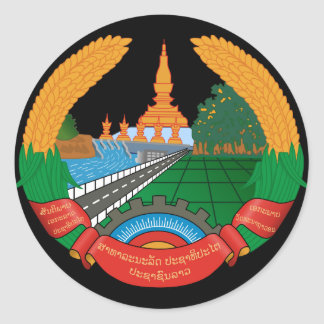 laos emblem sticker