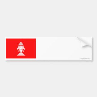 Laos Flag (1952-1975) Car Bumper Sticker