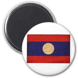 Laos Flag 2 Inch Round Magnet