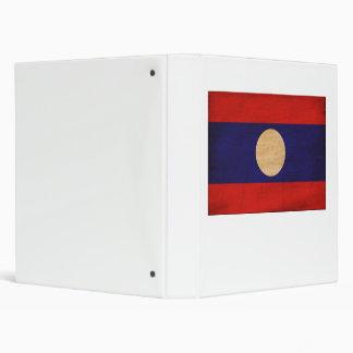 Laos Flag 3 Ring Binder