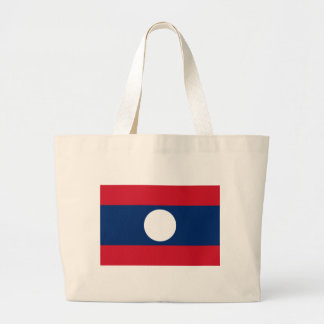 Laos Flag Jumbo Tote Bag