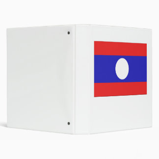 Laos Flag Binder