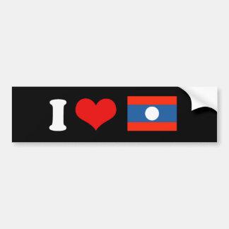 Laos Flag Bumper Sticker
