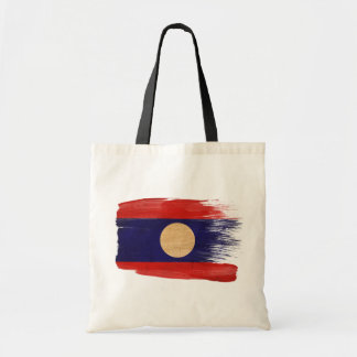 Laos Flag Canvas Bags