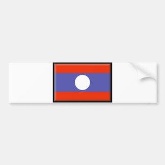 Laos Flag Car Bumper Sticker