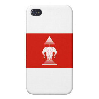 Laos Flag Cover For iPhone 4