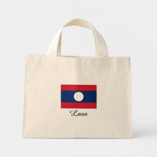 Laos Flag Design Mini Tote Bag