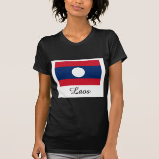Laos Flag Design T Shirts