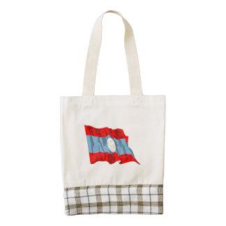 Laos Flag (Distressed) Zazzle HEART Tote Bag