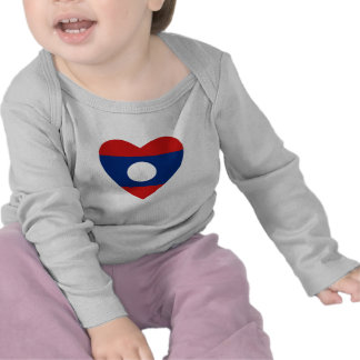 Laos Flag Heart T-Shirt