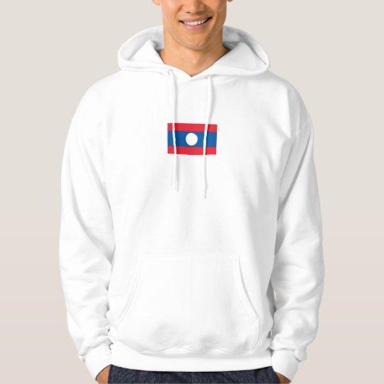 Laos Flag Hoodie