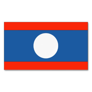 Laos Flag Magnetic Business Cards (Pack Of 25)