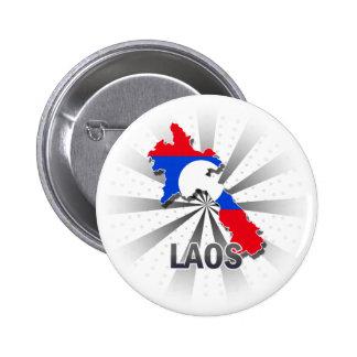 Laos Flag Map 2.0 Button