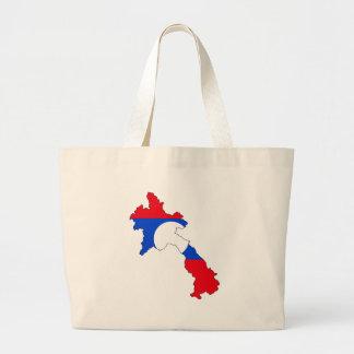 Laos flag map jumbo tote bag