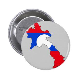 Laos flag map pinback buttons