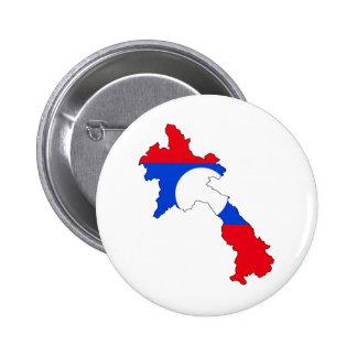 Laos Flag Map full size Pin