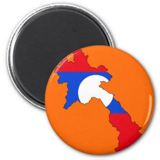 Laos flag map magnet