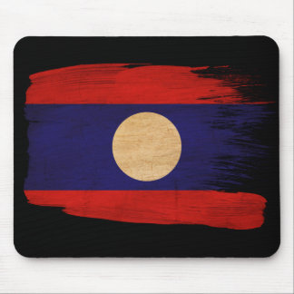 Laos Flag Mouse Pad