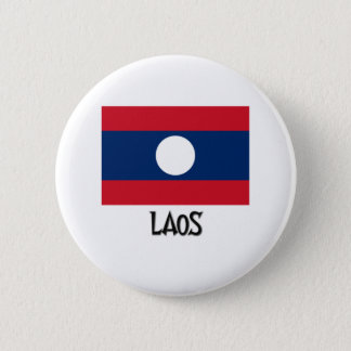 Laos Flag Pinback Button