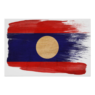 Laos Flag Posters