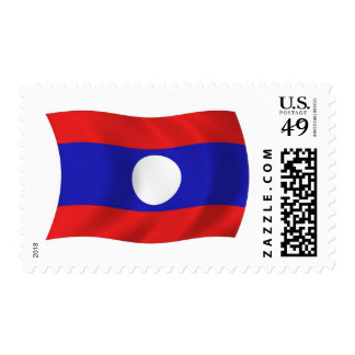 Laos Flag Stamps
