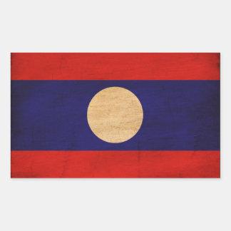 Laos Flag Rectangular Sticker