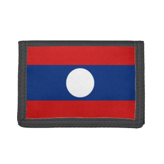 Laos Flag Wallet