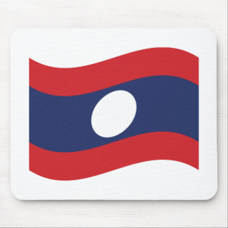Laos Flag Wave Mouse Pad