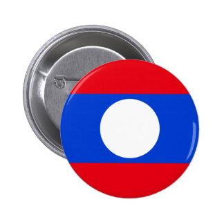 Laos High quality Flag Pinback Button