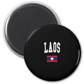 LAOS 2 INCH ROUND MAGNET