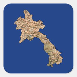 Laos Map Sticker