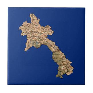 Laos Map Tile
