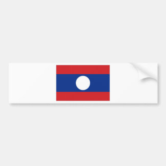 Laos National Flag Car Bumper Sticker