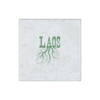 Laos Roots Stone Magnet