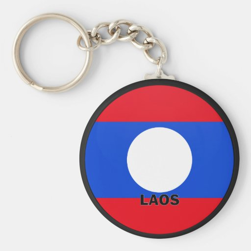 Laos Roundel quality Flag Keychains