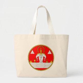 Laos Royal Coat of Arms Tote Bags