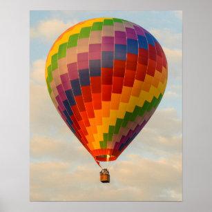 Laos, Vang Vieng. Hot air balloon Poster