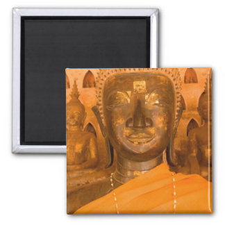 Laos, Vientiane, one of 6840 Buddha images in 2 2 Inch Square Magnet