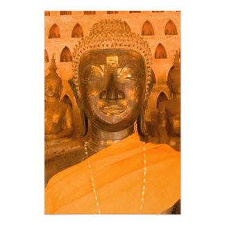 Laos, Vientiane, one of 6840 Buddha images in 2 Photograph