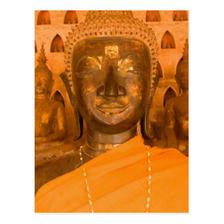Laos, Vientiane, one of 6840 Buddha images in 2 Postcard