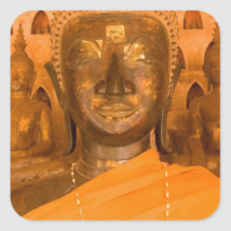 Laos, Vientiane, one of 6840 Buddha images in 2 Stickers