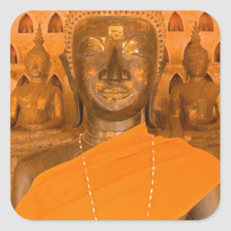 Laos, Vientiane, one of 6840 Buddha images in Square Stickers