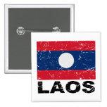 Laos Vintage Flag Buttons
