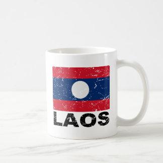 Laos Vintage Flag Coffee Mug