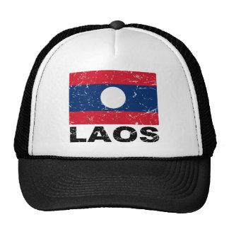 Laos Vintage Flag Trucker Hat