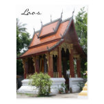 laos wat post card