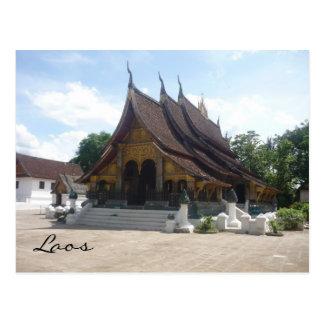 laos wat postcard