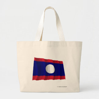 Laos Waving Flag Jumbo Tote Bag