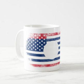 Laotian American Flag   Laos and USA Design Coffee Mug